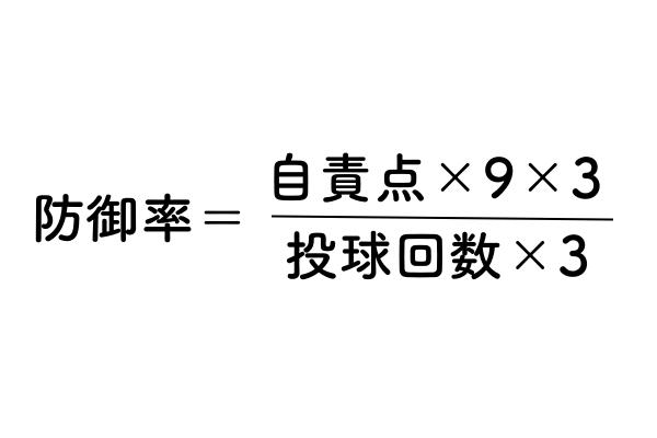 防御率の計算式の画像