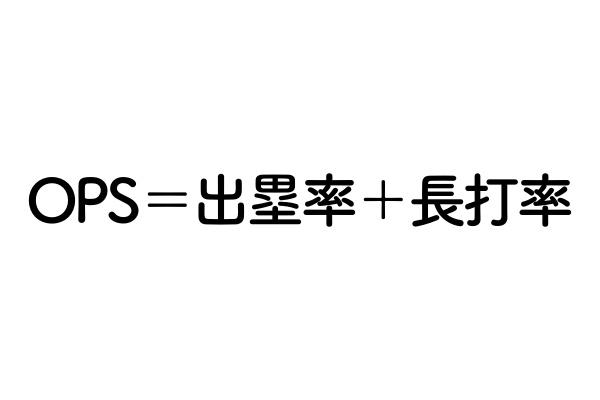 OPSの計算式を表した画像