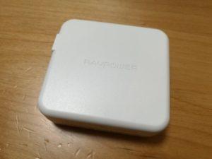 「RAVPOWER RP-PB125」のモバイルバッテリー本体の画像