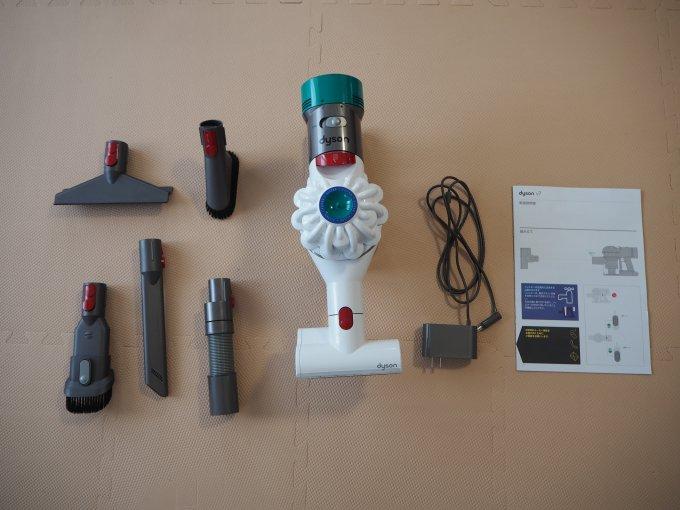 「ダイソン V7 Mattress」の付属品の一覧画像