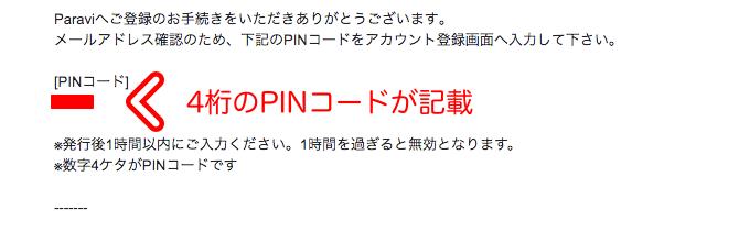 Paravi(パラビ)のPINコード