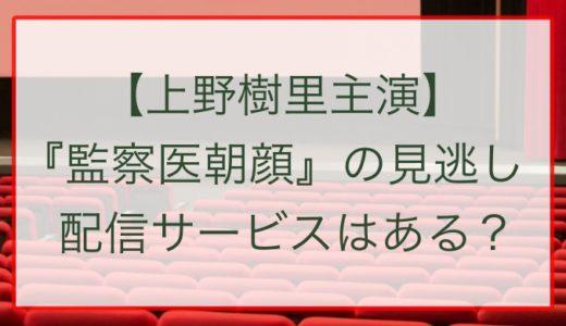 【上野樹里主演】『監察医朝顔』の見逃し配信サービスはある?