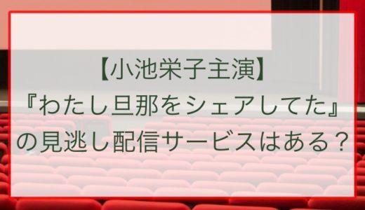 【小池栄子主演】『わたし旦那をシェアしてた』の見逃し配信サービスはある?