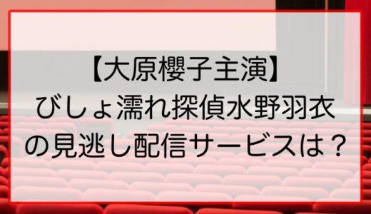 【大原櫻子主演】びしょ濡れ探偵水野羽衣の見逃し配信サービスはある?