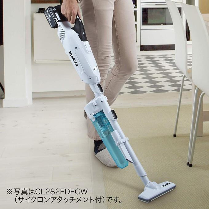 「CL282FDRFW」はサイクロンアタッチメントが別売りである