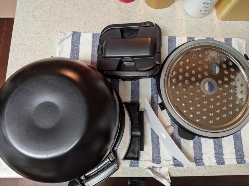 KN-HW24Eのお手入れが必要なパーツは内鍋、内ぶた、まぜ技ユニット、つゆ受け、蒸気口カバーの5つ